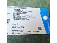 Eminem tickets standing x2