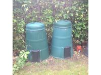 3 x large composting bins