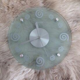 Acctim Swirls Glass Wall Clock