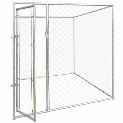 Used, vidaXL Outdoor Dog Kennel 6'x6' Large Chain Link Fence Pet Enclosure Run House for sale  Rancho Cucamonga