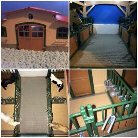 Schleich stables and accessories