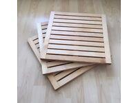 Wooden Floor Decking Tiles x3, perfect condition