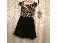 Black & cream dress
