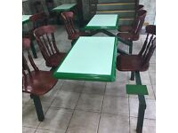 Chip shop table chairs 20 sets