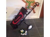 Junior half set left handed golf clubs