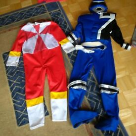 Power rangers outfits and mask