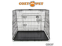 large dog car crate. for estates, people carriers, 4x 4's etc. cage - blaCK