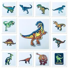 Dinosaur iron on patches for your clothes and bags, T-Rex is super popular