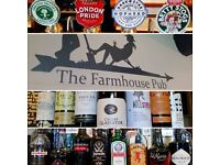 Bar / Waiting Staff / Supervisor Wanted at to join our friendly team at The Farmhouse, Horley.