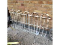 White fencing panels