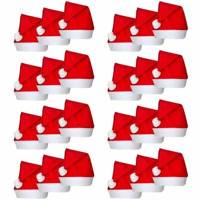 Bulk Christmas Santa Hats Fancy Dress Xmas Party Santa Claus Red Wholesale - Santa Hats Bulk
