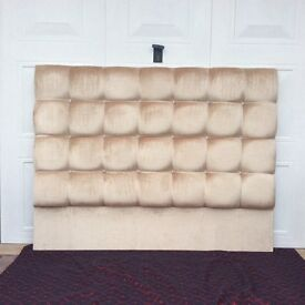 HEADBOARD. KING SIZE. DEAP PADDED WITH CRISTAL INSERTS