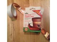 5m of slug-deterrent copper tape