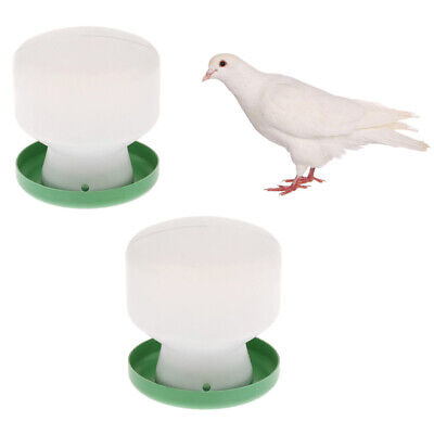 2 Pcs Automatic Plastic Food Feeder Waterer for Bird Poultry Chicks Pigeons