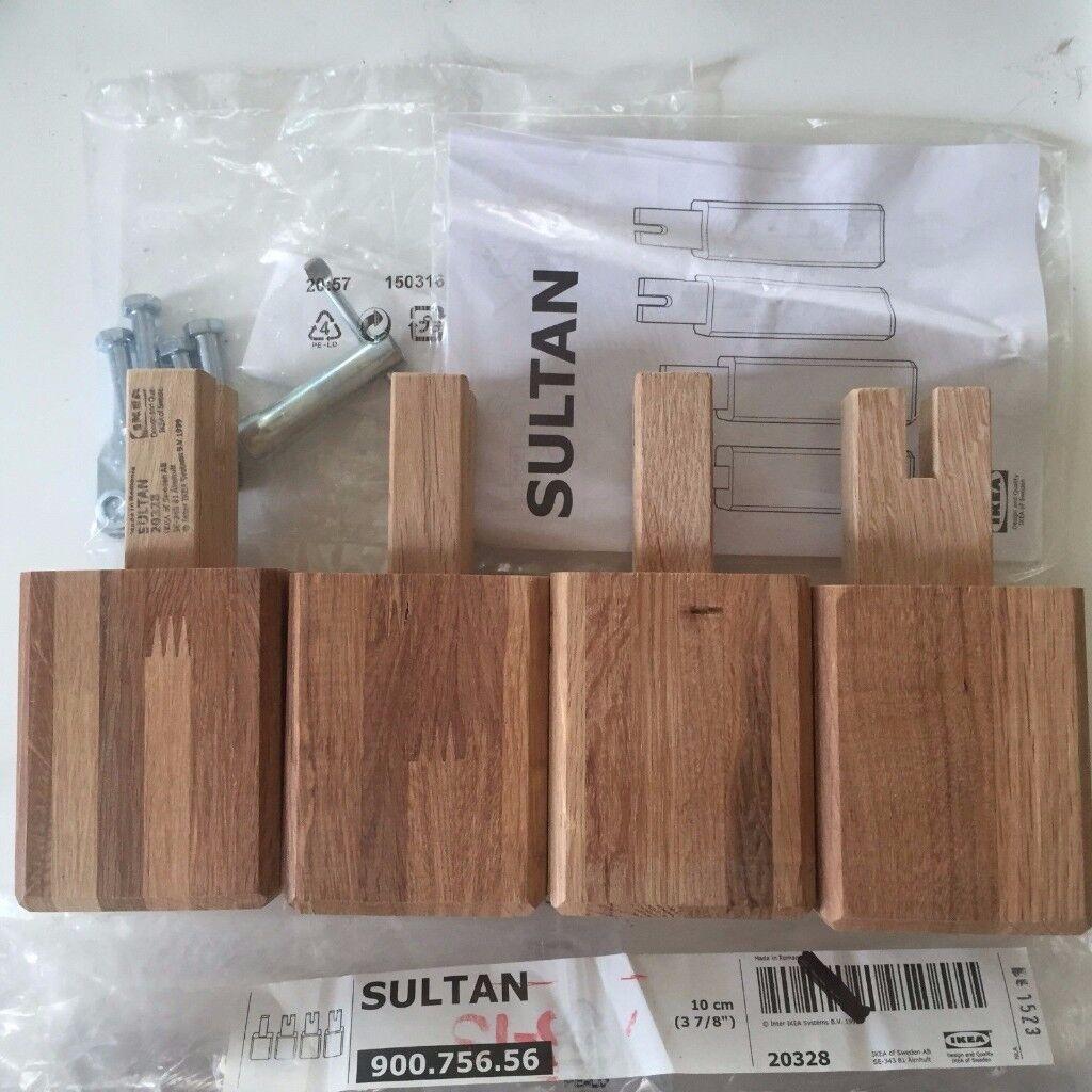 Ikea Sultan Solid Oak Bed Legs