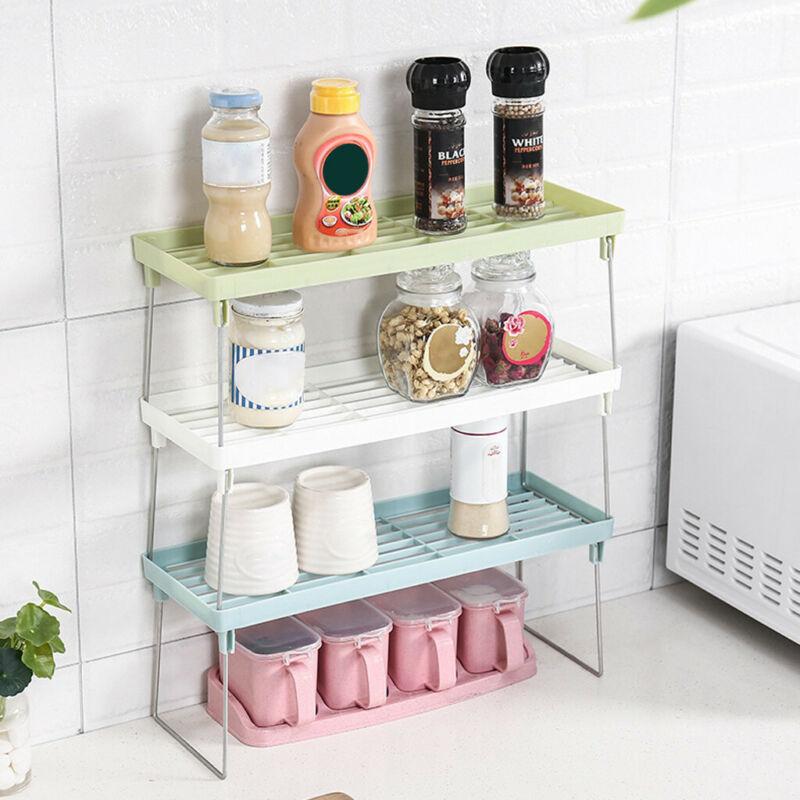 Standing Rack Kitchen Bathroom Countertop Storage Organizer