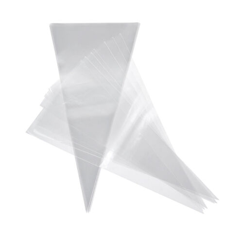 50 Pcs Cone Sweet Candy Cellophane Bags for Gift Packaging W
