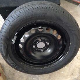 4x100 pcd 185/55/14 unused vw spare wheel
