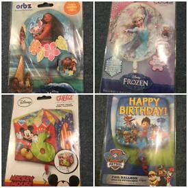 Joblot Of Assorted Supershapes Foil Balloons