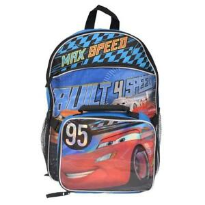 Disney Cars Backpack With Lunch Bag
