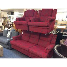 3 Seater Sofa and 2 Armchairs (#44675) £299