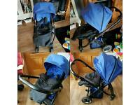 Black Oyster Pushchair & Carrycot
