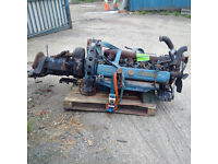 Bedford 6 cylinder diesel engine and gearbox.