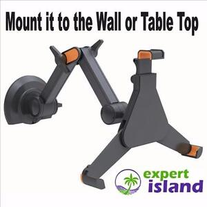 PYLE PSPAD05 Universal Wall or Table Mountable Claw Style Tablet iPad Holder w/ Retractable, Adjustable, Extendable Arm