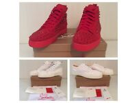 Christian Louboutin High & Low Top Unisex Men Women Trainers Shoes Loubs Red Bottom Soles Size