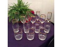 Mixed set of Fourteen Glasses