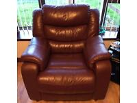 Fabulous leather sofas and chair