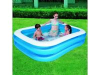 BESTWAY NEW BOXED FAMILY SIZED SWIMMING POOL COOL OUTDOOR GARDEN WATER CHILDREN PLAY FUN ADULTS
