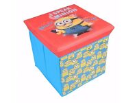 DESPICABLE ME MINION STORAGE STOOL OTTOMAN KIDS TOY BOX CHEST. Brand new in unopened package.