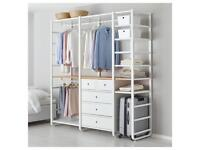 Open wardrobe with drawers and hanging space- modular