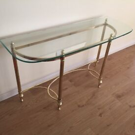 *** GLASS SIDE TABLE ***