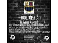 Players required for amateur league club