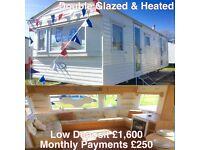 Cheap DG & Heated & FREE 2017 site fee static caravan @ Seawick Holiday clacton essex suffolk kent