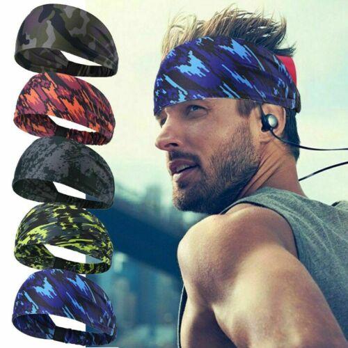 1/5 Pack Headband Moisture-Wicking Elastic Men Women Breatha