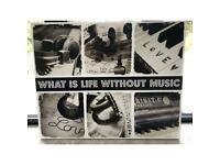 What is life without music canvas print