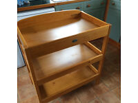 Solid wood Baby Weavers changing table in good condition