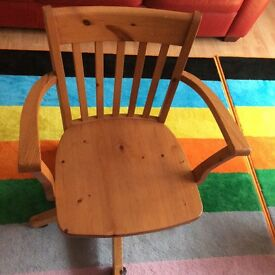 Solid pine reclining chair
