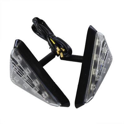 Motorcycle Triangle Flush Mount Turn Signal Smoke Amber LED Light Universal (Flush Mount Motorcycle Turn Signals)