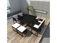 Garden Furniture Rattan Dining set Patio Table and Chairs