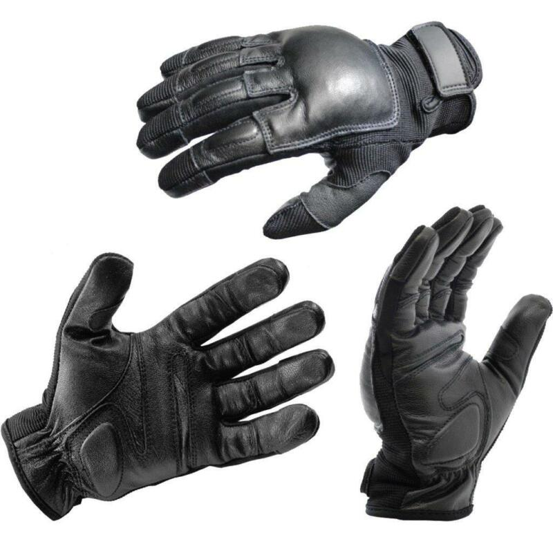 XL OFFICIAL LEATHER POLICE TACTICAL REAL WEIGHTED SAP GLOVES (LIFETIME WARRANTY)