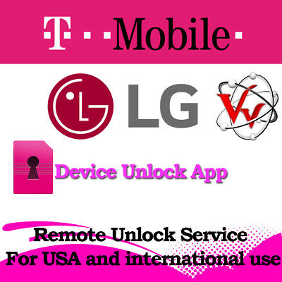 LG T-Mobile UNLOCK APP Service LG K20, K10, K7, Aristo, G4, G5, STYLO 3, Instant