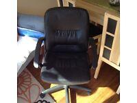Office chair, black,on wheels