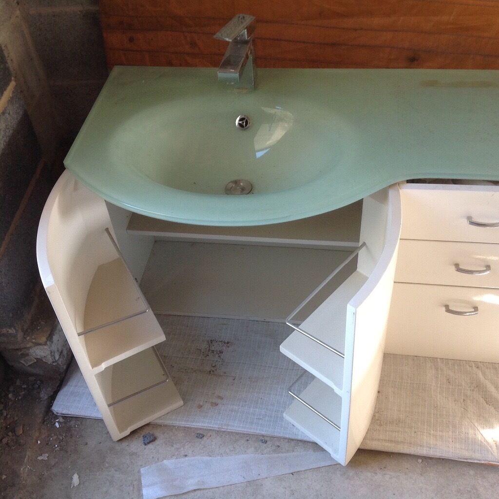 Bathroom Sinks Gumtree glass top vanity unit | in high green, south yorkshire | gumtree