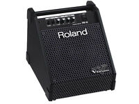 Roland PM10 Drum Monitor Amplifier clean tested excellent V Drums line in (2x inputs)