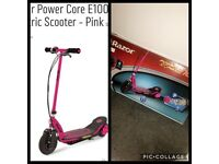Pink E100 electric scooter.