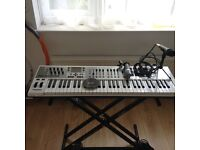 M-Audio Axiom Air 61 Midi Controller with stand and M-Trac USB/Midi interface